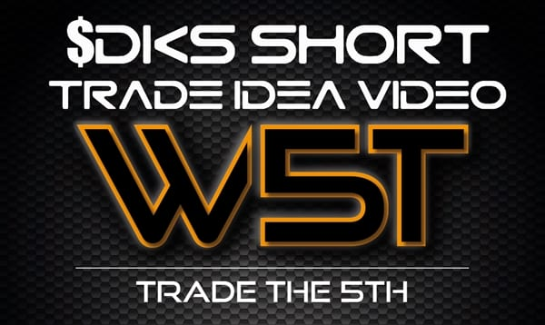 image of DKS trade idea short