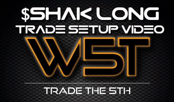 image of SHAK trade setup video header