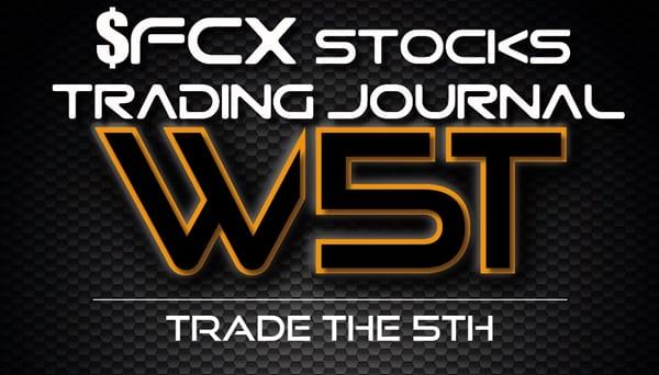 image of FCX stocks trading journal header