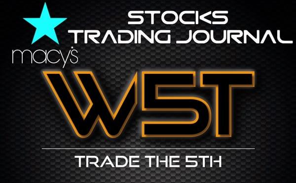 image of M stocks trading journal header