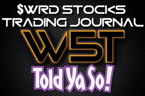 image of WRD Stocks Trading Journal Header