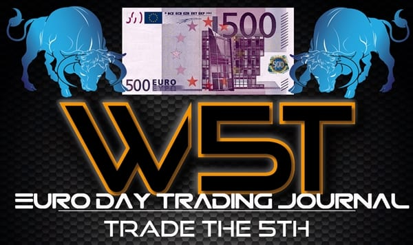 image of 6E euro day trading journal header