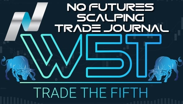 image of NQ futures scalping trade journal