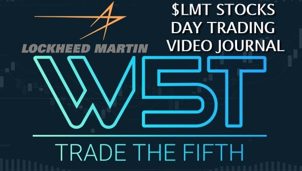 image of LMT stocks day trading video journal header