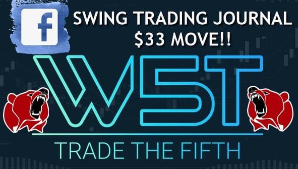image of FB stocks swing trading journal video header