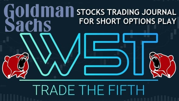 Stocks Trading Journal Video for Short Options Play on GS