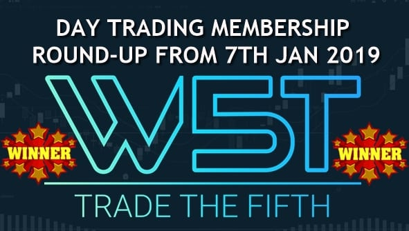image of stocks day trading membership round up video for 7th Jan 2019 by tradethefifth