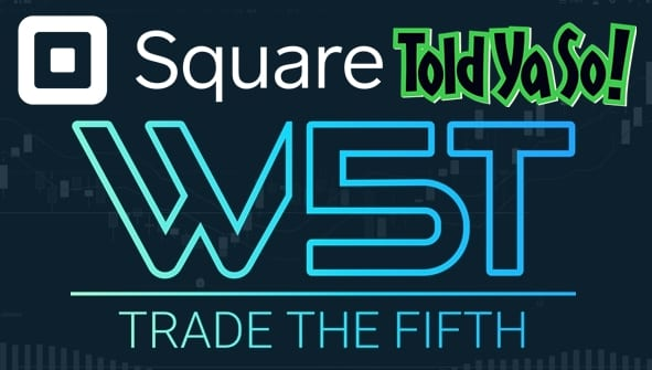 image of SQ stock trading journal header