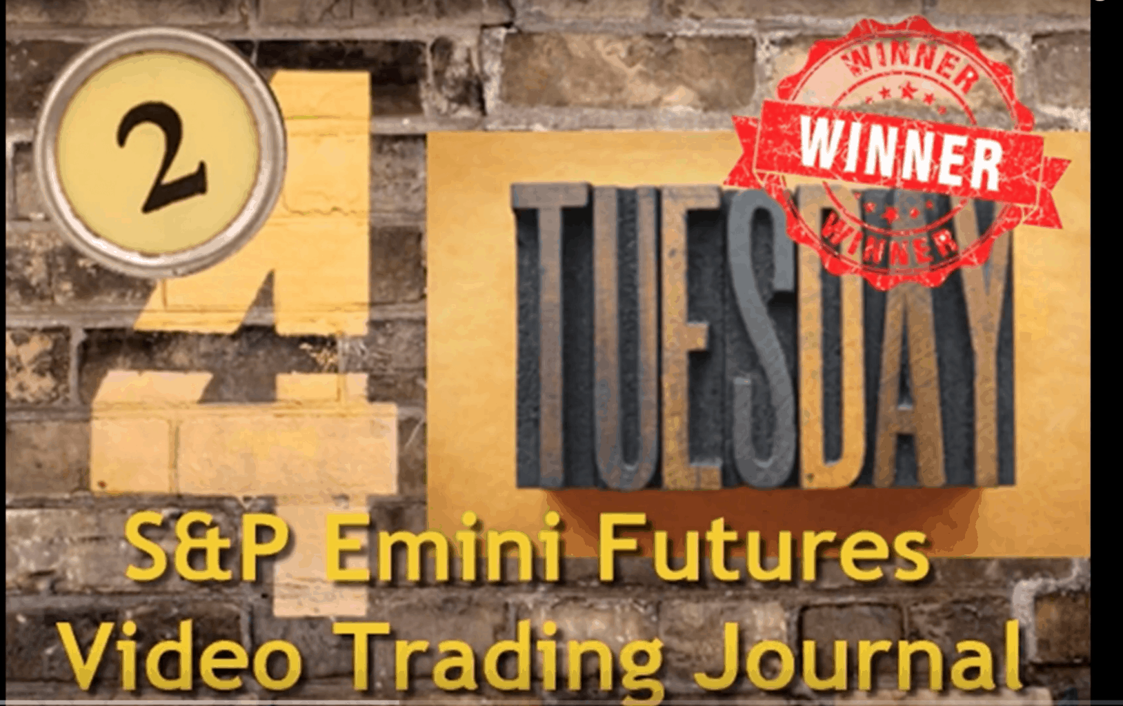 Day Trading Video Journal for ES Emini Futures