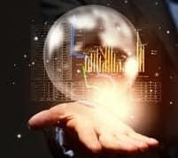 image of stock market predictions crystal ball